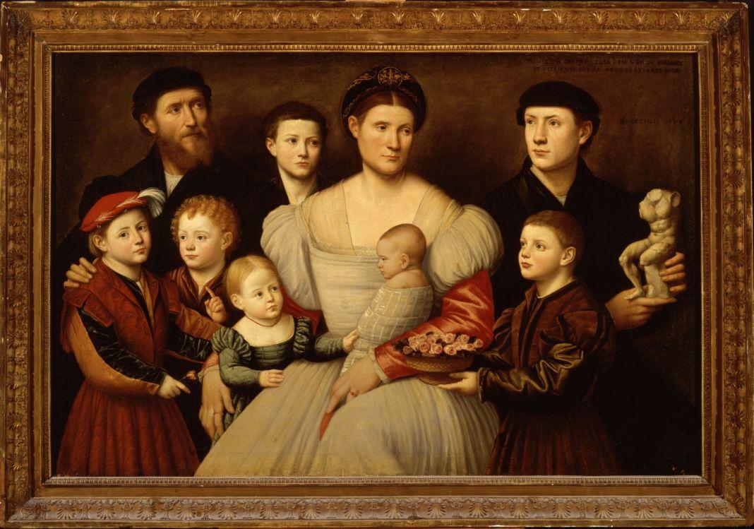 Bernardino Licinio, Ritratto della famiglia di Arrigo Licinio, 1535 40. Roma, Galleria Borghese