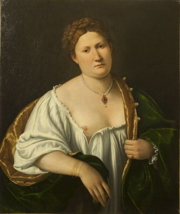 Bernardino Licinio, Ritratto di donna che scopre il seno, 1536. Bergamo, collezione privata