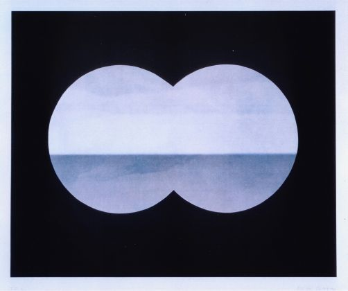 Markus Raetz, Binocular view, 2001 Color photogravure on paper, published by Crown Point Press - Los Angeles