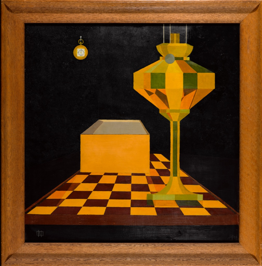 César Domela, Nature morte àla lampe no. 3, 1923. Gemeentemuseum Den Haag