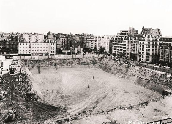 Centre Pompidou, vista delle fondazioni. © H. Baranger & Cie