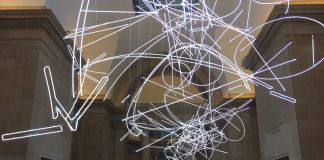 Cerith Wyn Evans, Forms in Space…by Light (in Time). Installation view at Tate Britain, Londra 2017