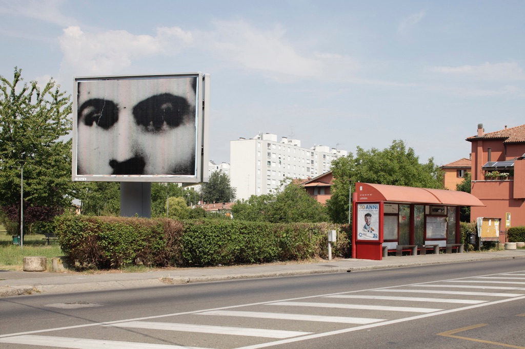 Christian Boltanski, Billboards. Bologna, 2017. Photo credit Matteo Monti. Courtesy Istituzione Bologna Musei