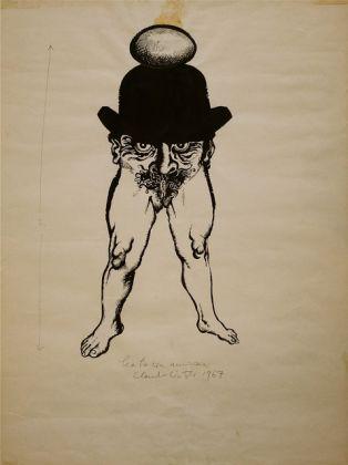 Claudio Cintoli, Senza titolo, 1967, china e collage su carta, 61x45 cm, Collezione Gino Monti
