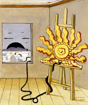Giorgio de Chirico, Sole sul cavalletto, 1968
