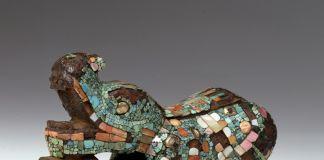 Cultura Azteca, Impugnatura antropomorfa di coltello sacrificale, ante 1521. Roma, Museo Nazionale Preistorico Etnografico Luigi Pigorini