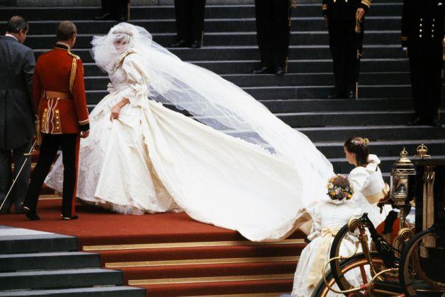 Diana nel giorno del suo matrimonio