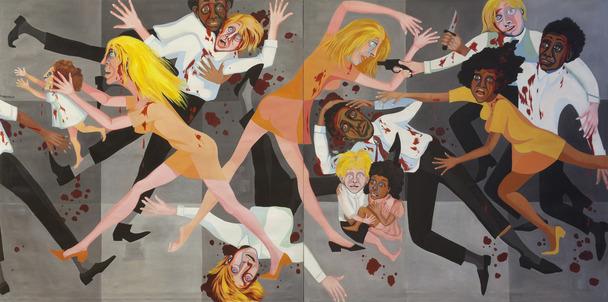 Faith Ringgold, America People Series 20 Die, 1967