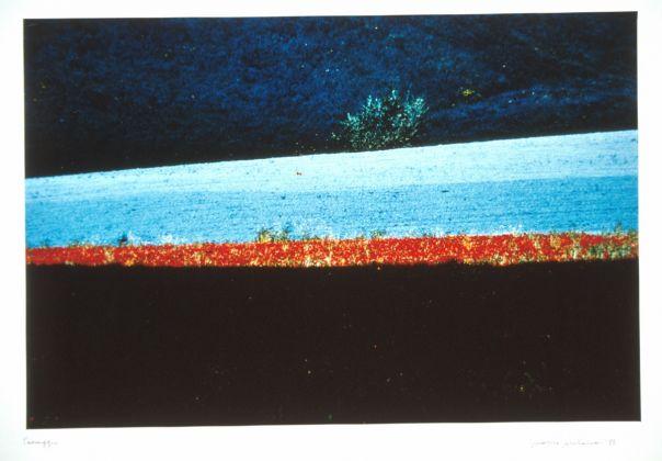 Franco Fontana (Modena, 1933), Paesaggio, Emilia, 1986, Fotografia a colori su carta Cibachrome, UniCredit Art Collection