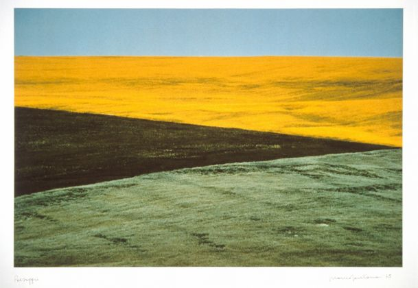 Franco Fontana (Modena, 1933), Paesaggio, Puglia, 1975, Fotografia a colori su carta Cibachrome, UniCredit Art Collection