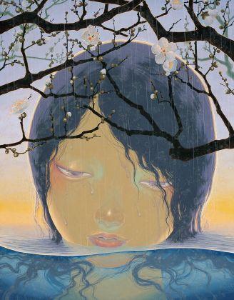 Fuco Ueda, Spring rain, acrylic and shell white on canvas, 116x91 cm