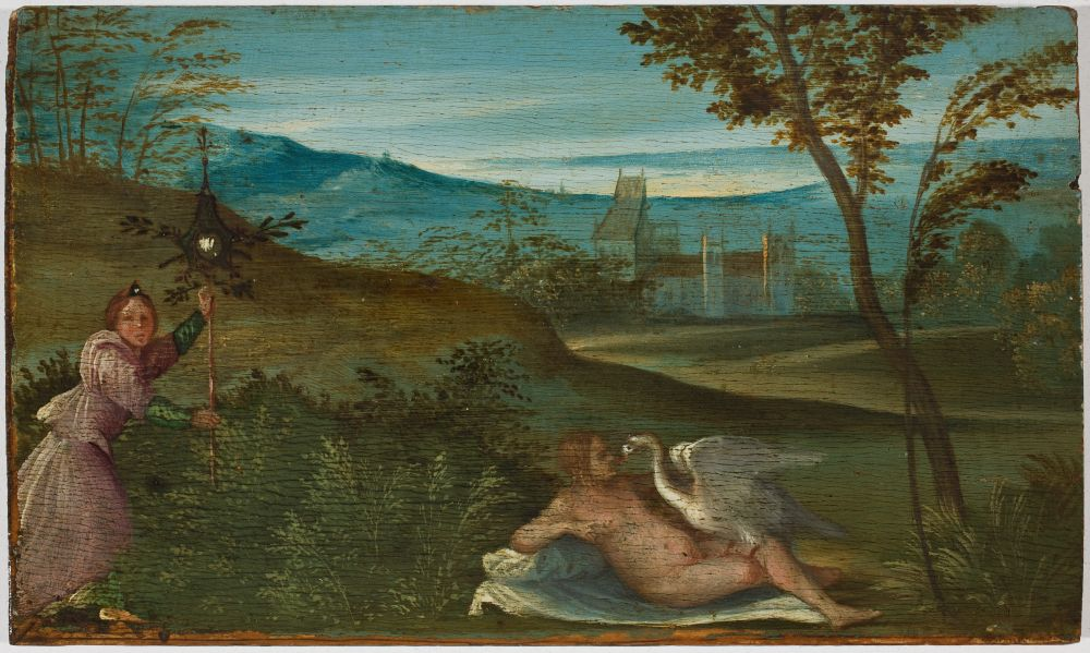 Giorgio da Castelfranco detto Giorgione, Leda e il cigno, 1499 1500. Padova, Musei Civici, Museo d'Arte Medioevale e Moderna