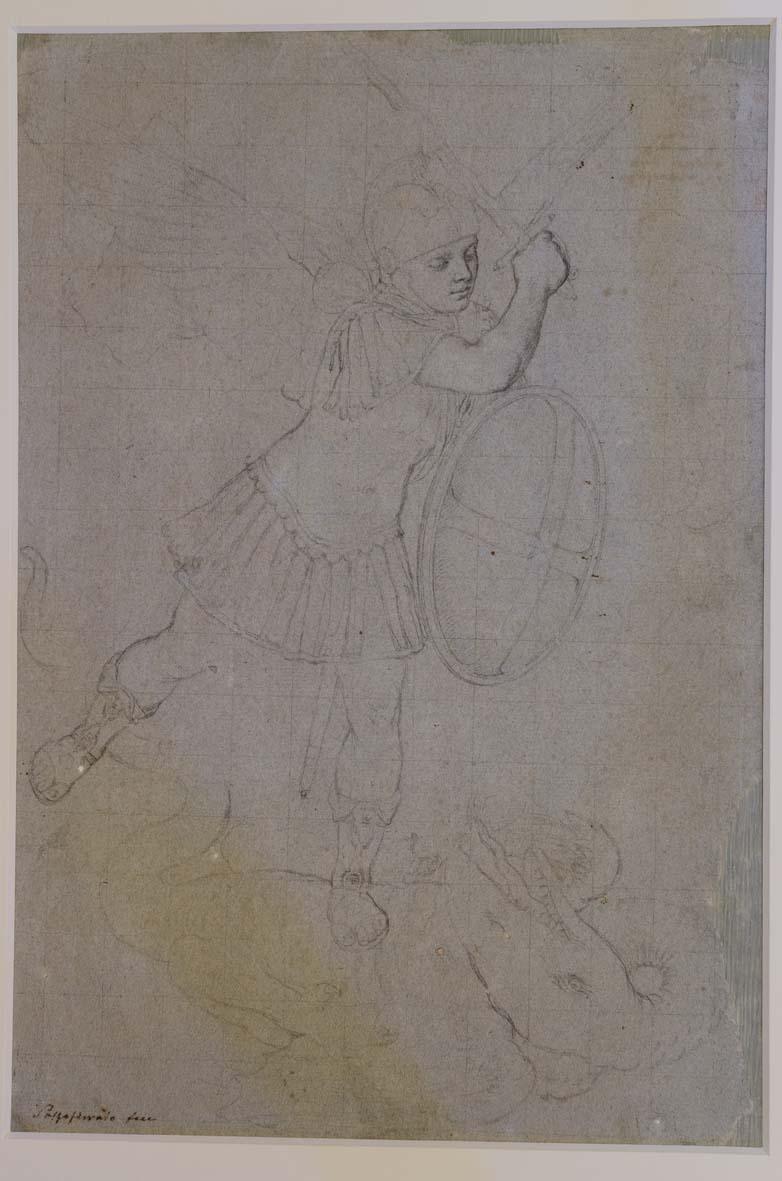 Giovan Battista Salvi detto il SassoferratoSan Michele che atterra il drago(recto)