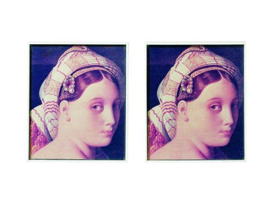 Giulio Paolini, Mimesi, 1975, fotografie a colori, 25x21cm cad. Collezione privata