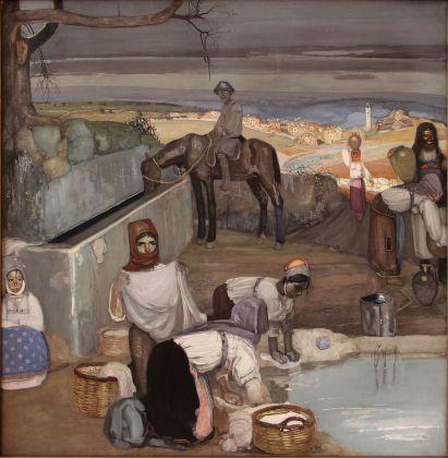 Giuseppe Biasi, Mattino in un villaggio sardo, 1912. Sassari, MiBACT, Polo Museale della Sardegna, Pinacoteca Nazionale