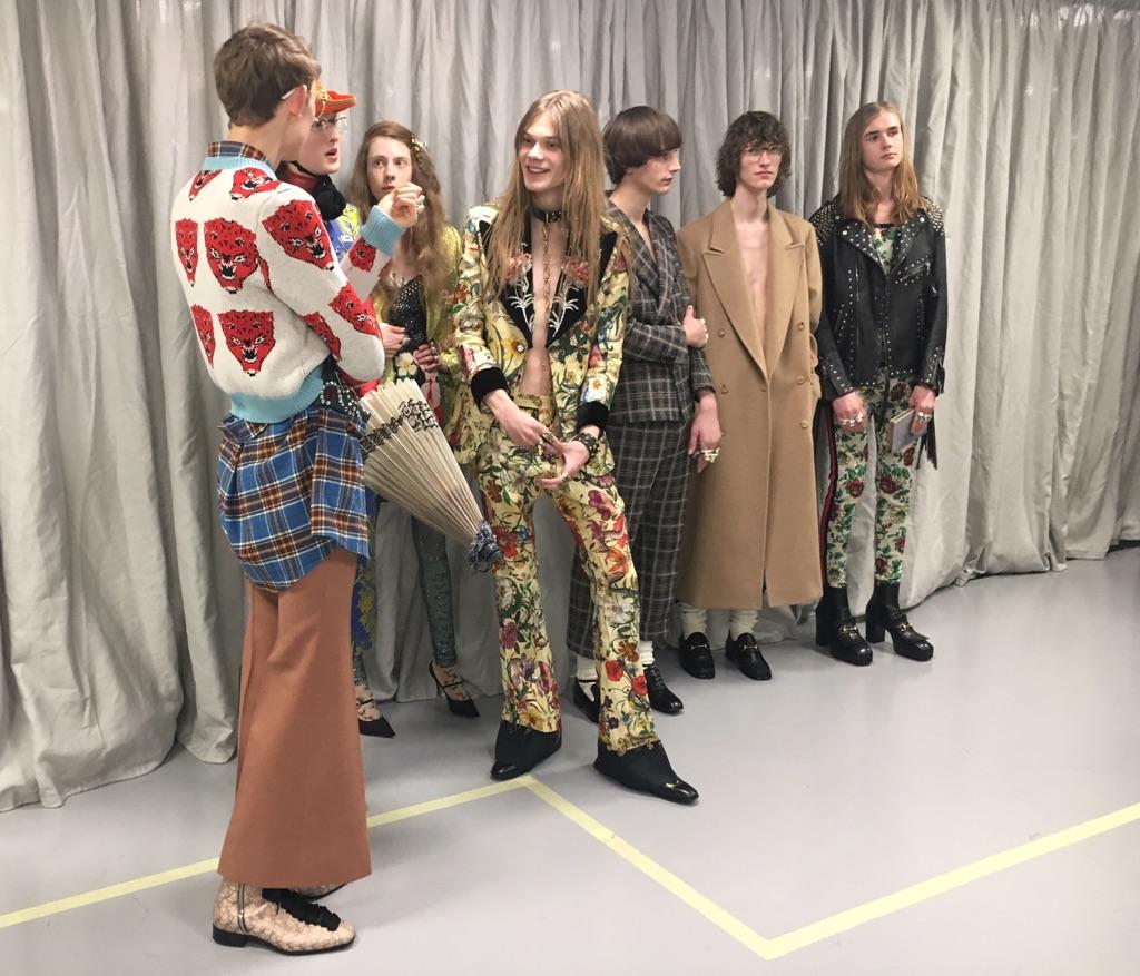 Gucci. Backstage della collezione autunno inverno 2017-2018
