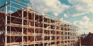 Il Centre Pompidou in costruzione. © Centre Pompidou