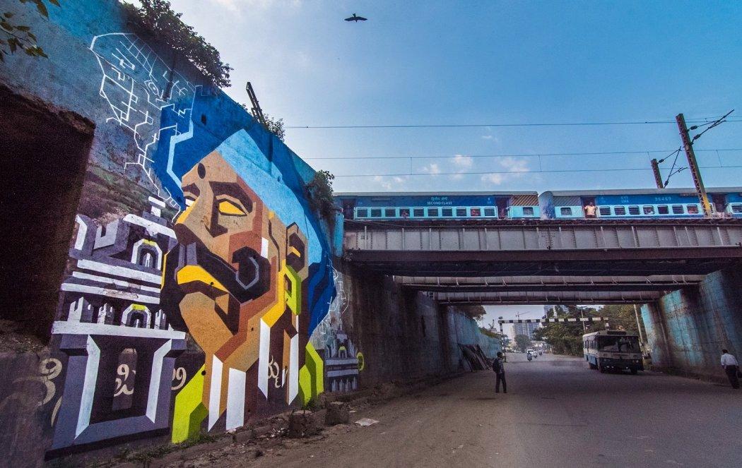 Il murale Remember di Ullas Hydoor - photo by Pranav Gohil