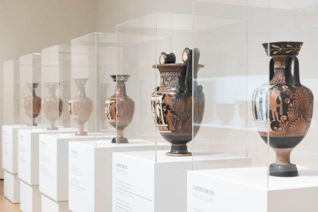 Il viaggio dell'eroe. Da Atene alla Magna Grecia, dal racconto all'immagine, exhibition view at Pinacoteca Agnelli, Torino 2017, photo Margherita Borsano