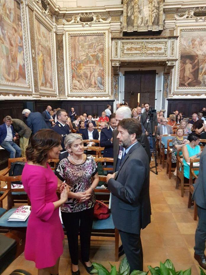 Irina Bokova a Fabriano con il Ministro Franceschini