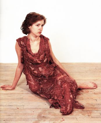 Jana Sterbak, Vanitas. Flesh dress for an Albino Anorectic, 1987