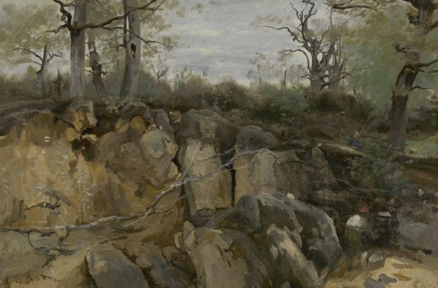 Jean Baptiste Camille Corot, Abandoned Quarry, 1850, The Mesdag Collection, The Hague