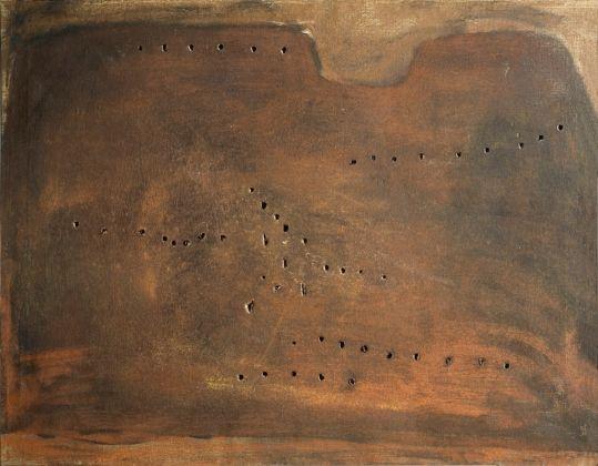 Lucio Fontana, Concetto spaziale, 1957 © S.I.A.E.