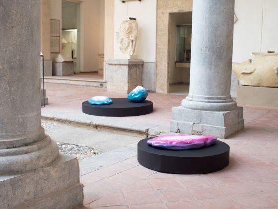 Viaggio in Sicilia 7, Malak Helmy, Scene 4, A Composition for Gradients (A.P.), 2017. Courtesy Galleria Enrico Astuni Bologna