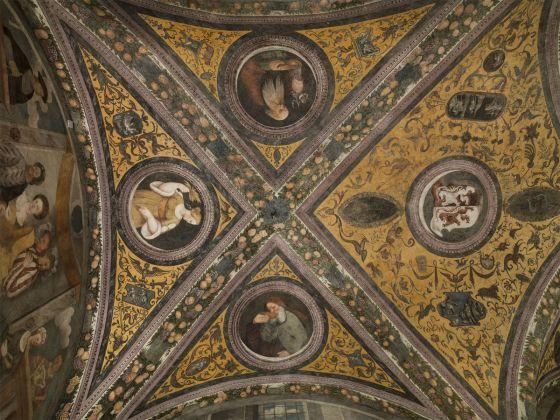 Marcello Fogolino, Affreschi nel Refettorio Clesiano, Castello del Buonconsiglio, Trento