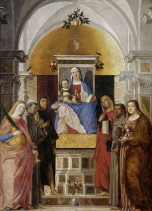 Marcello Fogolino, Madonna con bambino e santi, Amsterdam, Rijksmuseum