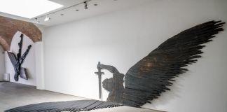Mario Ceroli, L'angelo sterminatore, 1990