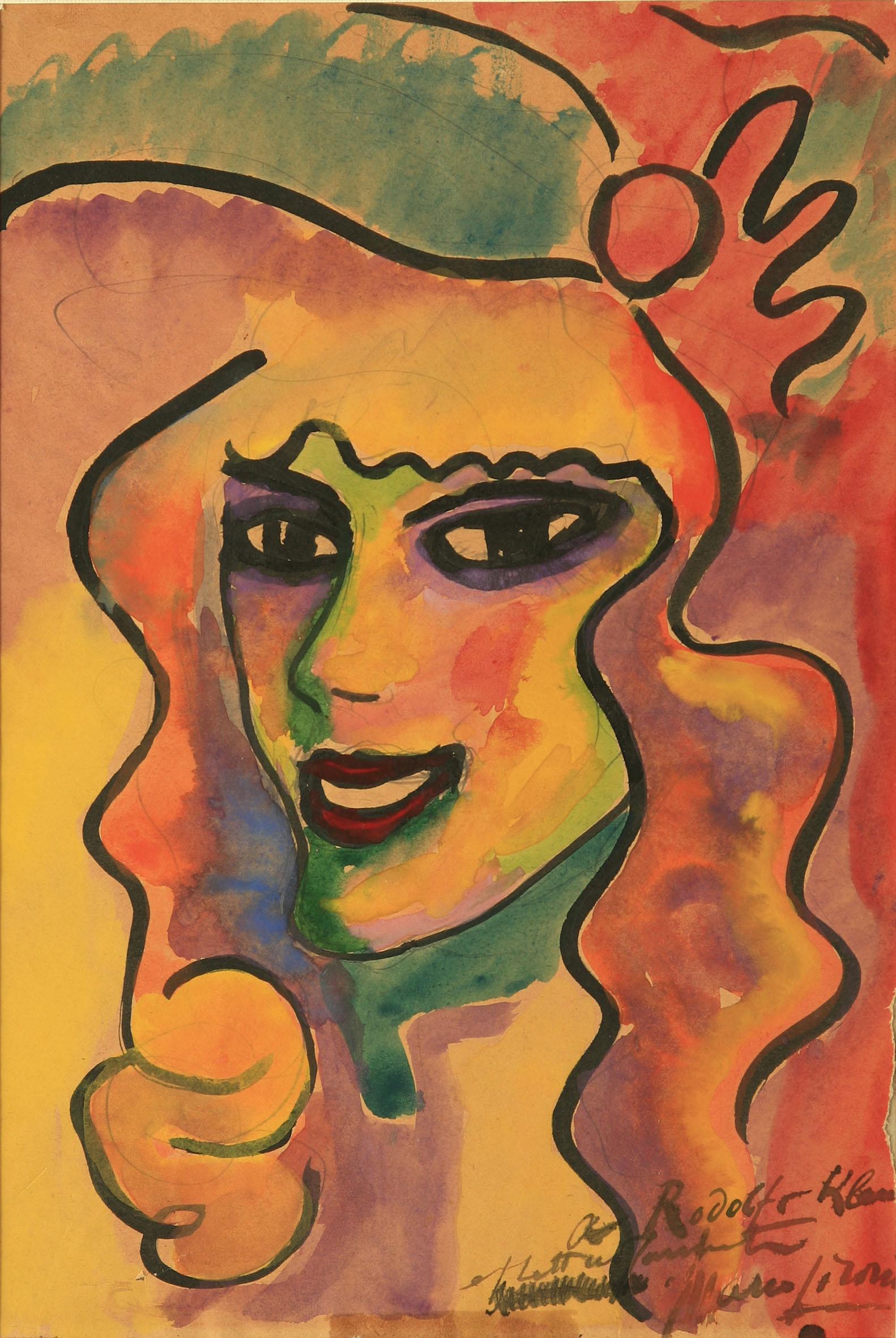 Mario Sironi, Figura (Cocotte), 1914-15
