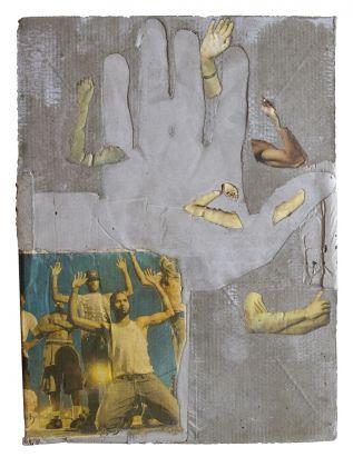 Matheus Rocha Pitta, # 72 (fourteenth assault), 2016, paper and cement, 30 x 40 x 3 cm