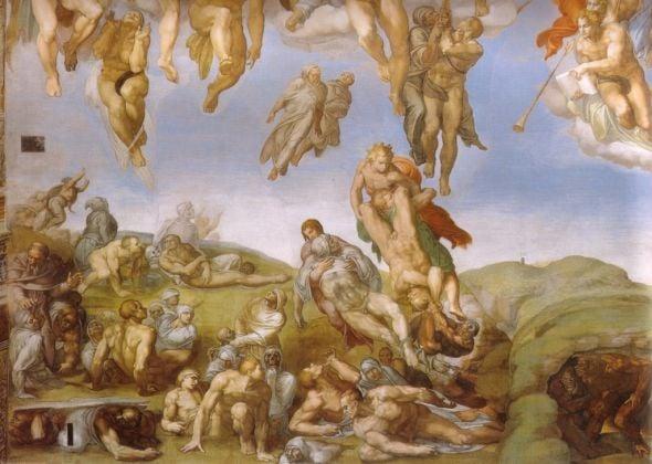 Michelangelo Buonarroti, Giudizio Universale, 1535-41, dettaglio