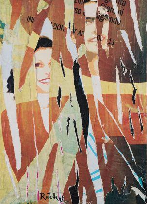 Mimmo Rotella, Decollage su tela, 1995, 70x50 cm