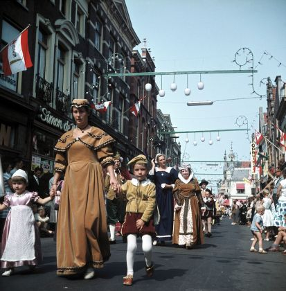 Parade in Amersfoort to celebrate being a city for 700 years
