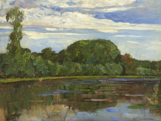 Piet Mondriaan, Arbres sur le fleuve Gein, 1905 06 ca. Collezione Simonis & Buunk, Ede