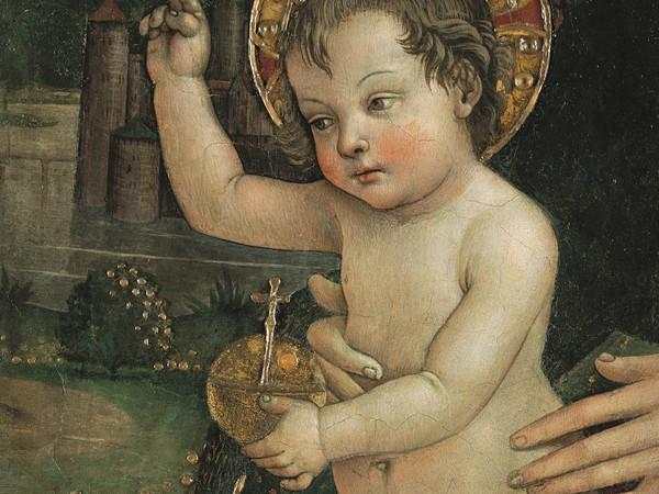 Pintoricchio, Bambin Gesù delle mani, particolare