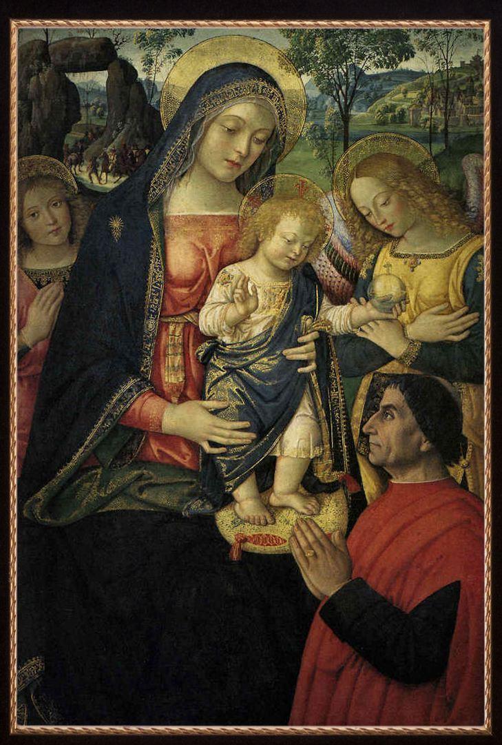 Pintoricchio, Madonna della Pace, c. 1489, olio su tavola, cm 143 x 70, San Severino Marche, Pinacoteca Civica Tacchi Venturi