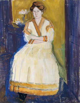 Richard Gerstl - Ritratto di Mathilde Schönberg 1907