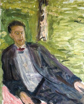Richard Gerstl - Ritratto di uomo su sfondo verde 1908