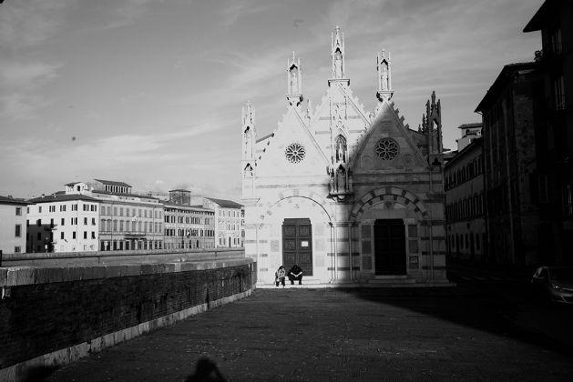 Richard Nonas, foto scattata durante il sopralluogo alla chiesa di Santa Maria della Spina