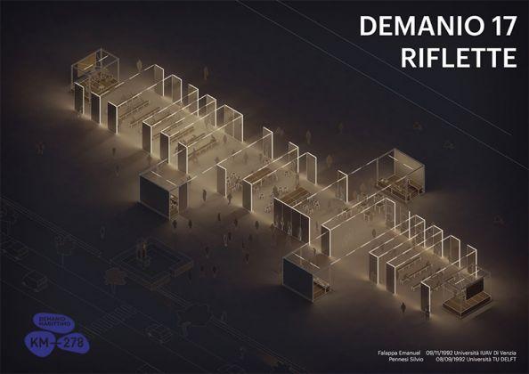Riflette, progetto di allestimento per Demanio Marittimo.Km-278, 2017