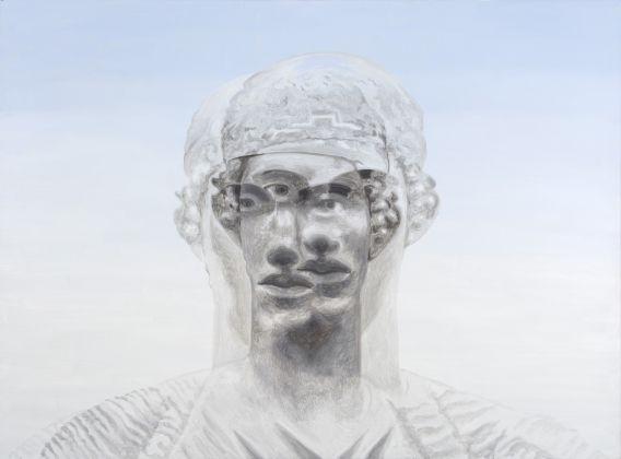 Roger de Montebello, Auriga di Delfi, 2015, olio su tela, 140x190 cm