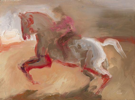 Roger de Montebello, Burgo de Osma, 2011, olio su tavola, 16x22 cm