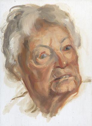 Roger de Montebello, Franca, 2005, olio su tavola, 22x16 cm