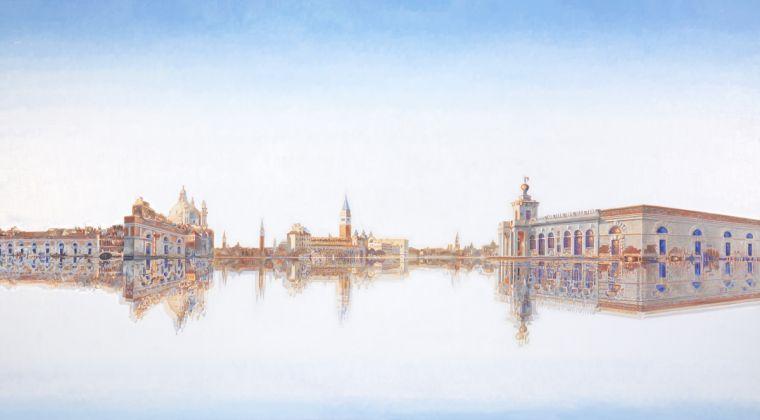 Roger de Montebello, Panorama, 2016, olio su tela, 170x305 cm