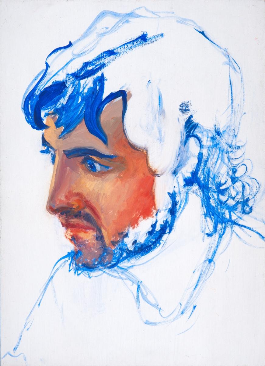 Roger de Montebello, Peter, 2006, olio su tavola, 22x16 cm