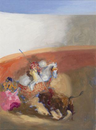 Roger de Montebello, San Sebastian de los Reyes, 2007, olio su tavola, 22x16 cm