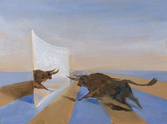 Roger de Montebello, Torrejon de Ardoz, 2013, olio su tavola, 16x22 cm